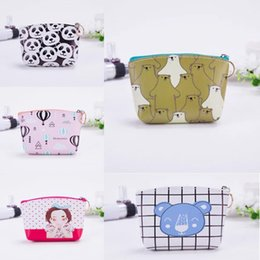ticket wallets Australia - PU leather coin Ticket Holder wallet earphone wallet earphone credit card coin purse female ticket holder pattern design
