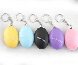wireless bells UK - Personal Alarms Bell Tama Loud Safe Stable 120 Decibels Mini Portable Keychain Alarm Safe Football Panic Anti Rape Attack Safety Security