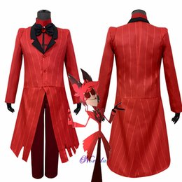 carnival uniforms Australia - ALASTOR Hazbin Hotel Cosplay Costume Uniform Adult Men Women Party Halloween Carnival Christmas Costumes Red Suit Clothes Set