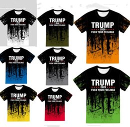 wholesale round neck tee shirts NZ - Unisex Tshirt 3D Trump Letters Camouflage Color T-shirt Round Neck Short Sleeve Tops Tee Adults Women Mens Sports Casual T Shirt E82601