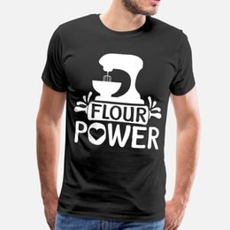 cupcake cakes designs UK - Flour Power Cake Artist Baker Cupcake T Shirt Men Designs Cotton O Neck Novelty Interesting Building Spring Leisure Shirt