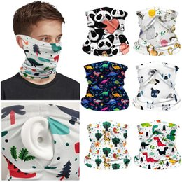 face scarves NZ - Kids Elastic Head Face Scarf Dustproof Bandana Outdoor Cycling Protection Half Face Scarves with Invisible Pocket Hanging Ear