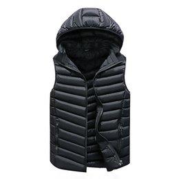 Wholesale warm vests for men for sale - Group buy Vest Men Solid Men s Winter Jacket Warm Men s Outerwear Waistcoat Casual Vest for Men Hooded Jacket Man Sleeveless Men s Vest CX200825