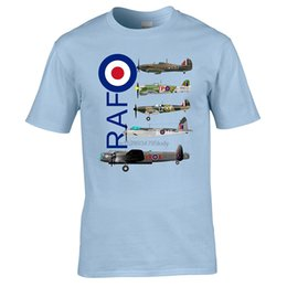 Wholesale lancaster online – design Iconic RAF Aircraft From World War Two The Hurracaine Typhoon Spitfire Mosquito And The Lancaster All On One T Shirt