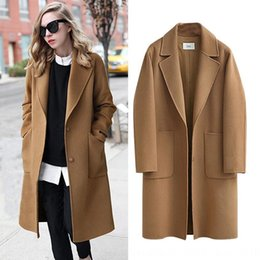 Wholesale winter clothes sale for women online – oversize Hot sale wool Wool autumn and winter double sided women s clothing New woolen coat long loose woolen coat for women