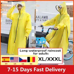 Wholesale designer jackets sale men for sale – winter Hot Sale Eva Raincoat Women men Zipper Hooded Motorcycle Rainwear Long Style Hiking Poncho Environmental Rain Jacket