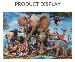 animal world toys NZ - Factory direct cross-border hot selling adult puzzle 1000 pieces of forest animal world puzzle toys customized wholesale
