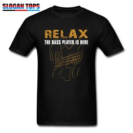 clothing sayings NZ - Men T-shirt Funny Saying Tshirt Relax The Bass Player Is Here Male Black T Shirt 100% Cotton Fabric Letter Hip Hop Clothes XXXL