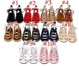 baby girl summer canvas shoes UK - Baby Girls Sandals Summer Toddler Kids Flat Heels Lace -Up Sandals Girls Rome Sandals Baby High Gladiator Sandal Child Pu Leather Shoes