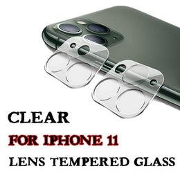 iphone lenses packages NZ - Lens Film For Iphone 11 Camera Screen Protector For Iphone 11 Pro Max Camera Lens Clear Tempered Glass Protective Film With Retail Packaging
