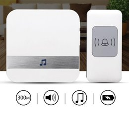 wireless bells UK - 300M Waterproof Electronic Smart Home Wireless Doorbell 52 Songs Chime Door Bell