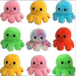 Wholesale 10cm octopus doll double-sided flip octopus doll octopus plush doll toy children's toy gift Movies TV Plush toy