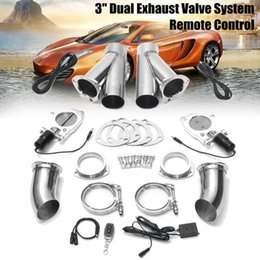 car exhaust valve Australia - 3'' 76mm Universal Car Truck Electric Exhaust Muffler Valve Cutout E-Cut System Dump Wireless Remote w  Gear Driven Motor