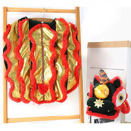 Discount chinese dog costumes Funny Clothes Thickened Pet Dragon Dance Party Chinese Style Dog Costume Winter
