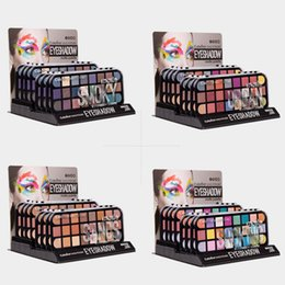 24 make up brush UK - 24 Colors Eyeshadow Eyeshadow Pallete Matte Glitter Palette of Shadows Make Up Palette With Brush Eye Makeup