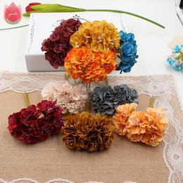 vintage flower bouquets UK - Wholesale 60pcs Vintage Silk 3cm Daisy Artificial Flowers Mini Bouquet Wedding Party Home Wreath Decoration DIY Garland Flowers WUyc#