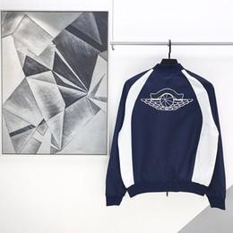 Wholesale street winter jackets for sale – winter 2020 Autumn Winter Men Europe France Paris cool street Patchwork Zipper Jacket Women Embroidery Baseball Coat