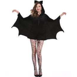 Wholesale woman vampire sexy costume for sale – halloween Extra size Halloween bat clothing cosplay role playing sexy vampire femalecostume Extra size Halloween bat clothing costume cosplay role pla