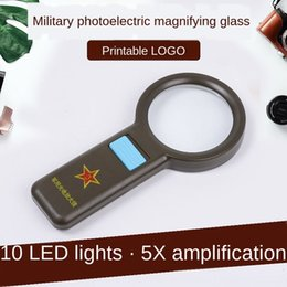 hand hold magnifier Australia - glass hand-held portable LED magnifying glassmagnifying glass for children and the Portable led mirror magnifier elderly