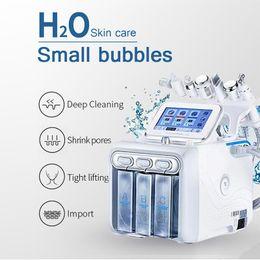 Großhandel Neue 6 in 1 HydroFacial Maschine Hydro Dermabrasion Gesichtspeeling Ultraschall Hautwäscher Sauerstoffspray Hautpflege Mikroodermabrasion