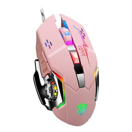 game programming Australia - Eighteen Duhong Programming Lol E-Sports Weighted Metal Luminous Mouse Office Game Mouse Amazon Wish