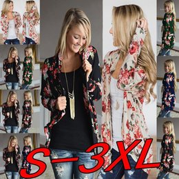 floral hoodies sweatshirts NZ - Spring Autumn New 2019 Casual Cardigan Hoodie Sweatshirts Women Floral Cardigans