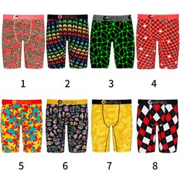 Wholesale print staples for sale – custom Ethika Men s Staple underwear arcade pac man printing sports hip hop rock excise boxers skateboard street fashion streched legging DHL