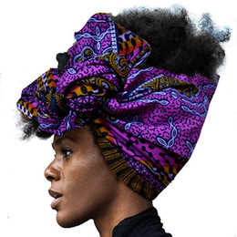 Wholesale african wax print fashion for sale - Group buy african fashion headwrap for women AFRIPRIDE bazin richi high quality cotton wax print women Hair Band Turban CX200813