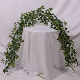 vine glass UK - 1.8 m Eucalyptus plant winding plant eucalyptus leaf money leaf Vine shelter living room ceiling decoration vine winding plants