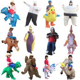 kids anime halloween costumes Australia - Men Adult Fantasy Inflatable Unicorn party Anime Cosplay Willy Horse Sumo Chef Halloween Kids Dinosaur Costume