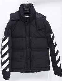 Wholesale down padded coat men for sale – warmest winter 2020 Mens off Designer Autumn Winter Coat Men Women Sweater Hoodie Long Sleeve Pullover Brand Hoodies Streetwear Fashion padded jackets