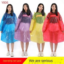 waterproof ponchos for women UK - A9Roc Y806 thickened 5-wire pullover disposable men raincoat for waterproof and poncho Cloak cloak outdoor portable women