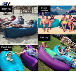 lazy bags 2021 - Free post car inflatable bed lazy sofa with tote bag for indoor   outdoor hiking camping pool floating bed beach park tourism