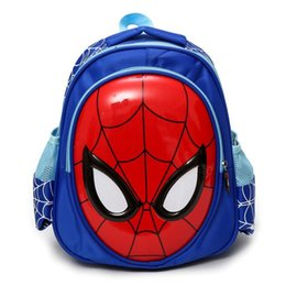 Wholesale comic cosplay costumes for sale - Group buy New Avengers Fashion Mens Cute Knapsack Marvel Comics Spiderman Party Cosplay Costume Schoolbag Bag Gift
