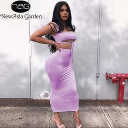 neon clothes clothing NZ - NewAsia 2 Layers Two Piece Set Summer Clothes For Women Pink Two Piece Outfits Neon Sexy Crop Top Skirt Set Matching Sets 2020