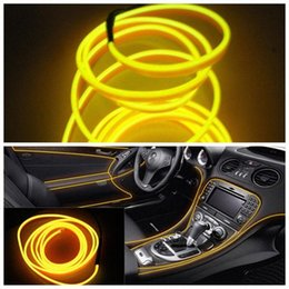 tape glow NZ - 7 Colors 5M 12V Flexible Neon Light Glow EL Wire Rope Tape Cable Strip LED Neon Lights Shoes Clothing Car Decorative Ribbon Lamp oENY#