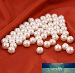 loose pearls 2021 - 14MM 16MM 18MM Pearls Beads For Making Earrings DIY Jewelry White Half Hole Shells Round Loose Beads Wholesale