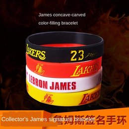 wristbands james bracelet NZ - Basketball Silicone collection sports silicone bracelet Lakers James signature No. 23 star wristband fan bracelet