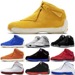 Hot New 18 18s Kids Mens Basketball Shoes Toro OG ASG Black White Red Bred Royal Blue Sports Sneaker NakeskinJordanRetros Outdoor