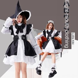 Wholesale cute costume dresses for women online – ideas g1vVV Luo Lita ever changing dress clothing witch neutral maid dress for men and women pantoon costume black and white cute little witch