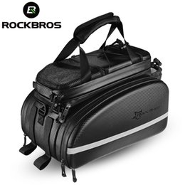 bike trunk bag NZ - ROCKBROS Bicycle Carrier Bag MTB Bike Rack Bag Trunk Pannier Cycling Multifunctional Large Capacity Travel Bag With Rain Cover MX200717