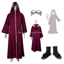 Wholesale naruto cosplay outfits resale online - Yakushi Kabuto Cosplay Costume Hooded robe Shoes Glasses Frame Naruto Male Hallowen Outfit