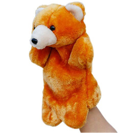 puppets UK - Animal Plush Hand Puppets Soft Toy Cartoon Dolls Puppets Plush Toys Baby Educational Stuffed Pretend Telling Story Doll Children Gifts