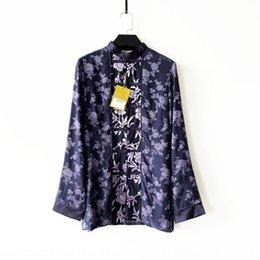 Wholesale long coats china resale online – New Chinese style silk plateRepublic of China coat long sleeve women s Top Jacquard Coat Jacquard top