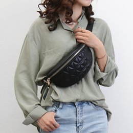black waist bags for women Australia - PU Leather Fanny Packs for Women Solid Color Small Summer Fashion Waist Packs Female Phone Purses Ladies Chest Bags Mini Bag CX200815