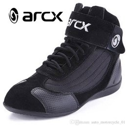 moto biker boots Australia - ARCX Motorcycle Boots Moto Riding Boots Genuine Cow Leather Motorbike Biker Touring Riding Ankle Shoes Motorcycle Shoes