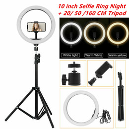 "Wholesale 10"" LED Ring Light Photographic Selfie Ring Lighting with Stand For Smartphone Youtube Tiktok Makeup Video Studio Tripod Ring Light"