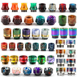 Wholesale baby snakes resale online - 13 Types Thread Resin Drip Tip Honecomb Snake Skin Cobra Vape Rainbow Mouthpiece for TFV12 Prince TFV8 Big Baby Tanks RDA