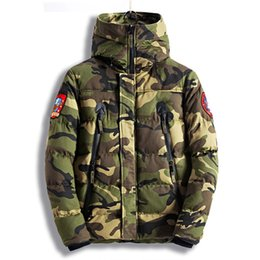 Wholesale camo parka resale online – MORUANCLE Fashion Men s Camouflage Winter Jackets Thick Warm Camo Coats For Man Thermal Parkas High Quality Size M XXXL E0836