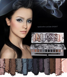 veronni eyeshadow NZ - VERONNI Eye Makeup Marble Eyeshadow Palette 6 Glitter 6 Matte 12 colors High Pigment Shimmer Warm Smoky Eye Shadow Palette Molten Rock Heat